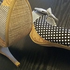 Rampage Shoes - Rampage polka dot slingback heels